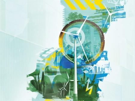 Big wind turbines – small footprints
