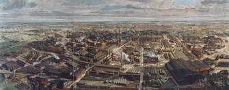 Die Gussstahlfabrik Fried. Krupp in Essen im Jahr 1912.