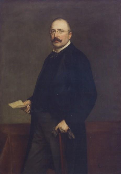 Friedrich Alfred Krupp, Gemälde von Ludwig Noster, 1896