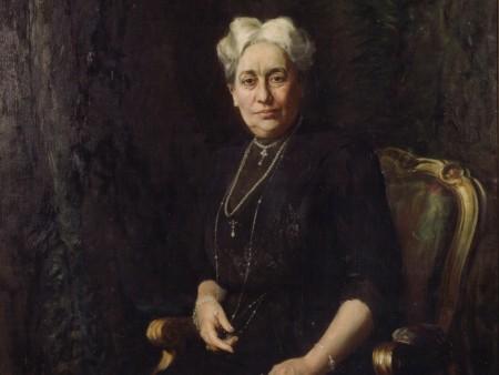 Margarethe Krupp, Gemälde von Hubert von Herkomer, 1913