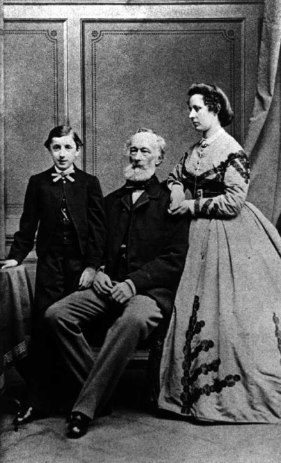 Alfred and Bertha Krupp with son Friedrich Alfred, ca. 1869