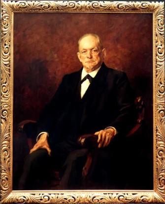 August Thyssen um 1917. Gemälde von Franz Josef Klemm