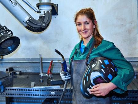 Lena Maria Senges, apprendista meccanica industriale