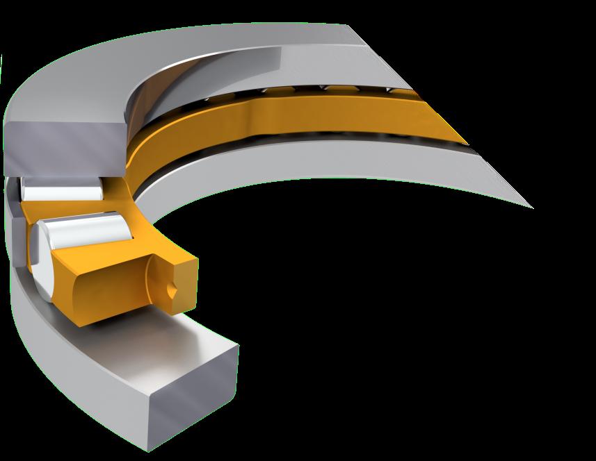 Unilateral axial bearing