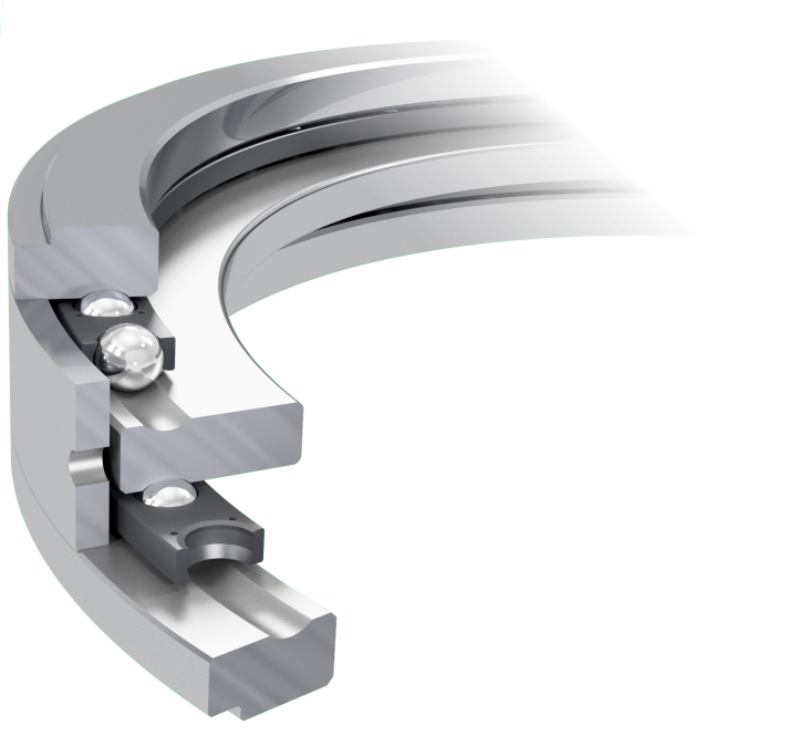Double-sided axial bearings