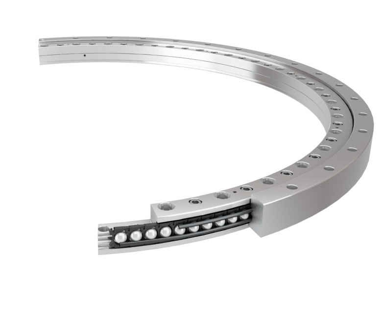 Wire race bearing on a white background