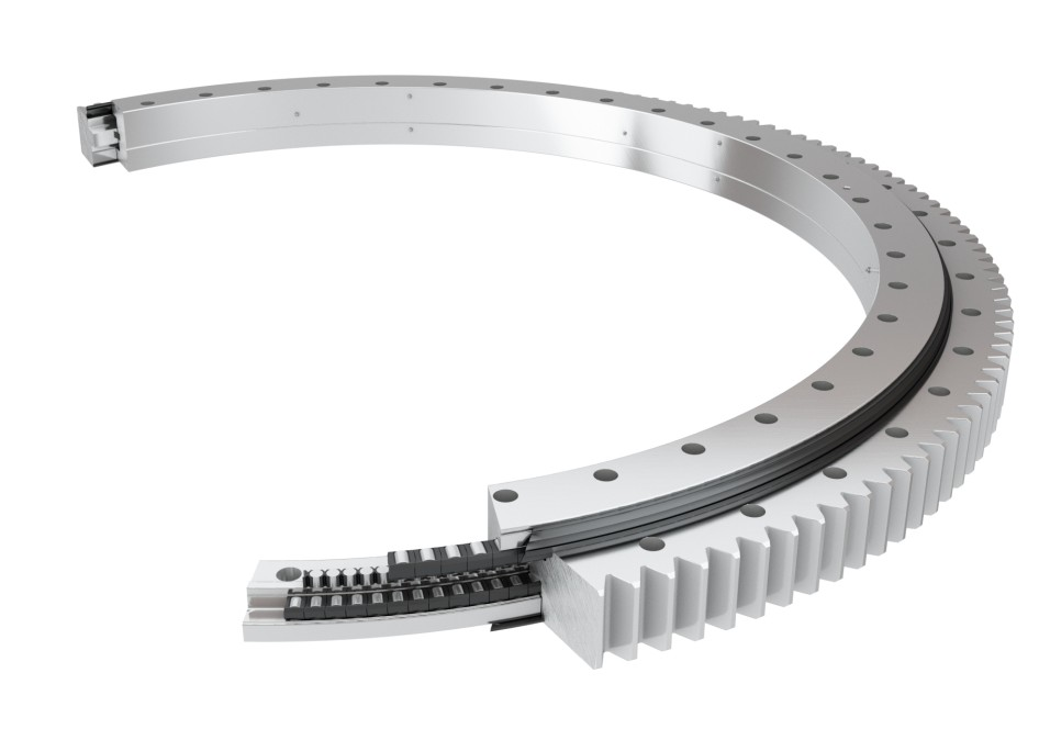 Roller bearing on a white background