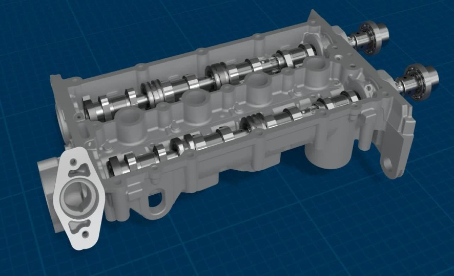 Video: Camshaft with axial slideable cam lobe packages