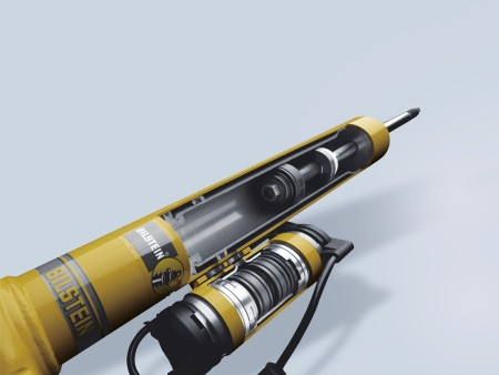 Electronically controlled shock absorbers