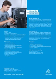 Information about the  apprenticeship IT specialist