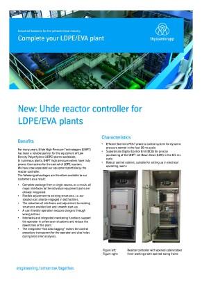New: Uhde reactor controller for LDPE/EVA plants