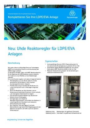 Neu: Uhde Reaktorregler für LDPE/EVA Anlagen
