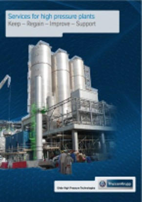 Services for high pressure plants