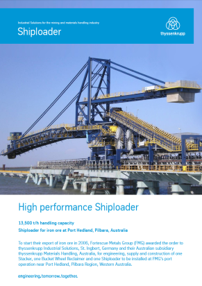 Product sheets Shiploader for Iron Ore
