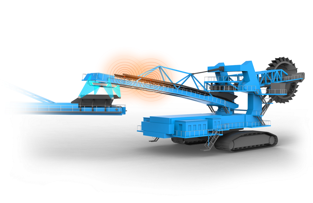 digitized bucket wheel excavators with Sensor and GPS by thysssenkrupp Industrial Solutions.