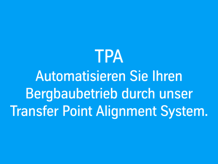 Transfer Point Alignment System für Bergbaubetrieb