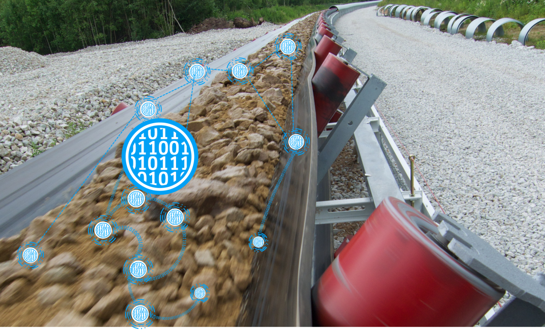 Production control & optimization with real time data from conveyors