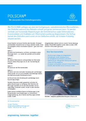 Flyer POLSCAN - Messystem zur Überprüfung von Drehöfen