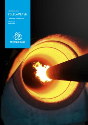 Clinkering zone burner brochure