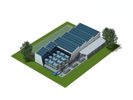 Hydrogen 100MW solar
