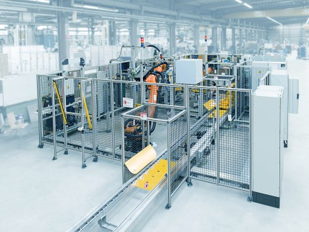 Example of an engine assembly line from thyssenkrupp System Engineerig