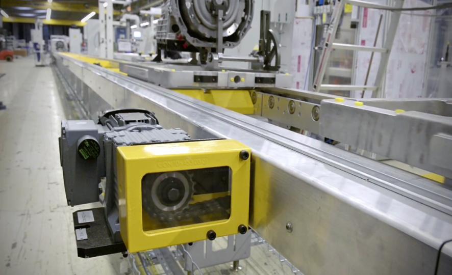 Horizontal roller conveyor