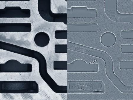 Texturbild und Krümmungsbild