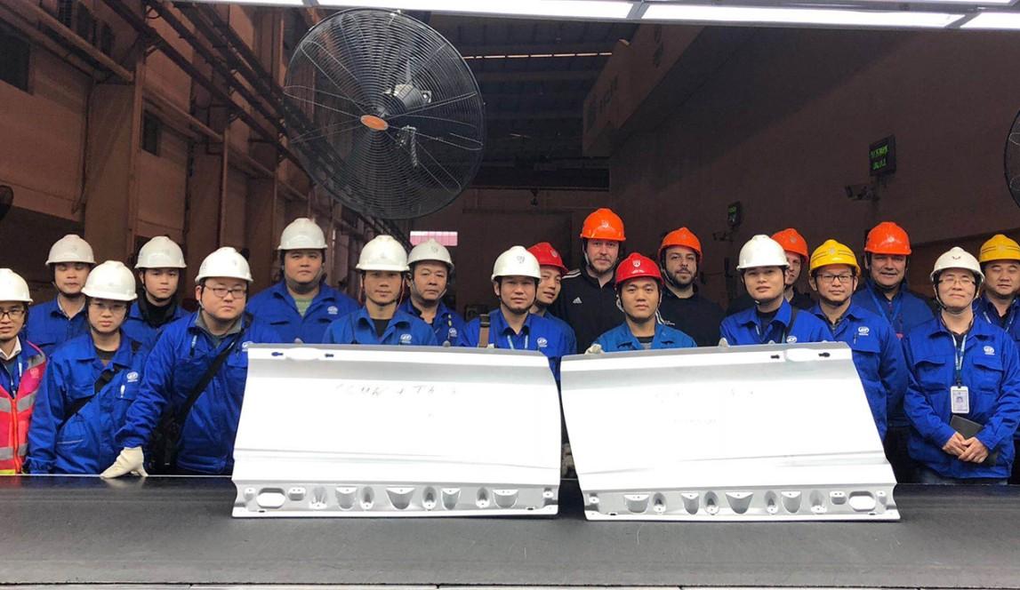 Das 1. Bauteil der Homeline in Liuzhou.