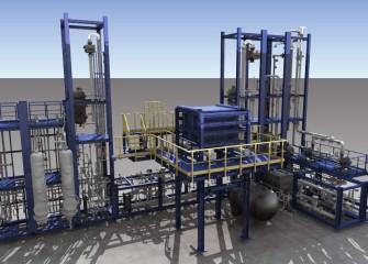塩素ベース年産5,000トンのプラント