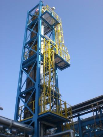 Waste gas dechlorination