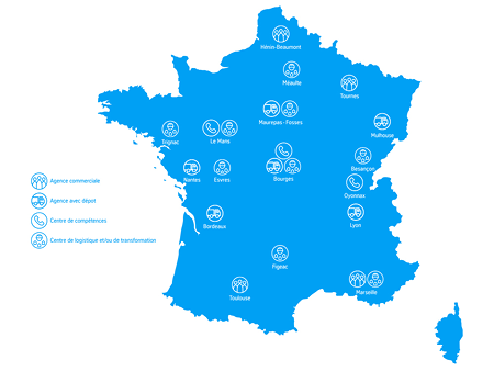 Implantations thyssenkrupp Materials France