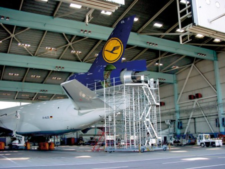 Maintenance dock for the Boeing MD-11 at Göteborg Airport, Sweden
