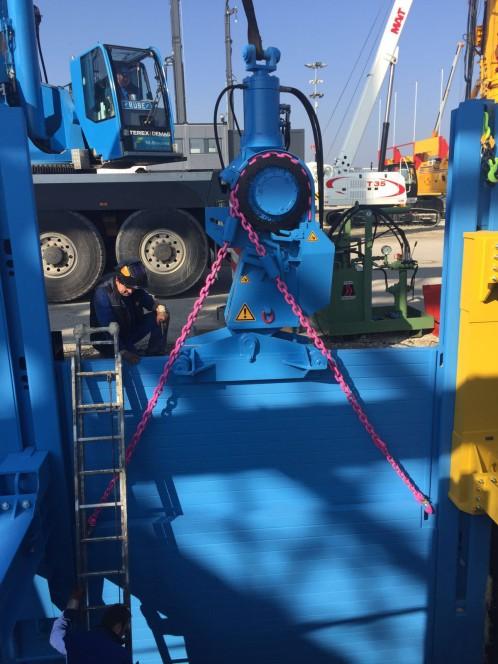 Der thyssenkrupp Verbauzieher ist schnell und effektiv einsetzbar – auch bei schwierigen Bodenverhältnissen.