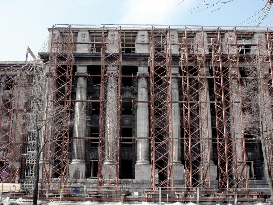 New Cologne headquarters – facade shoring K1
