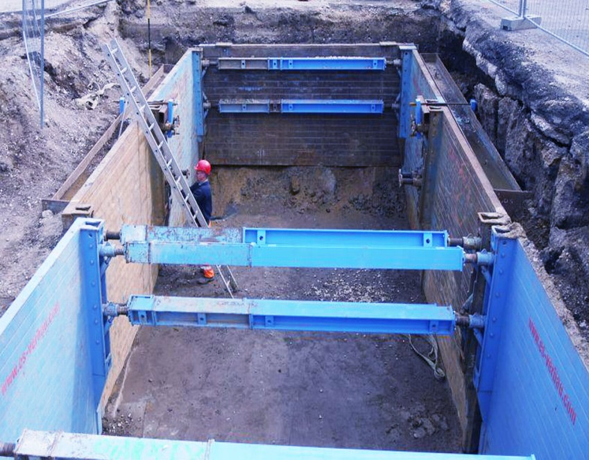 Installation window - Trench boxes