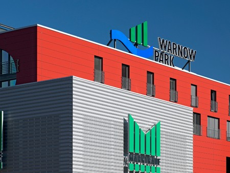 Fassade Warnow Park Rostock
