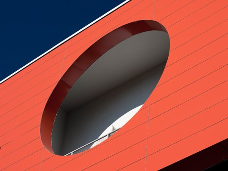Fassade mit Alucobond-Verbundplatten