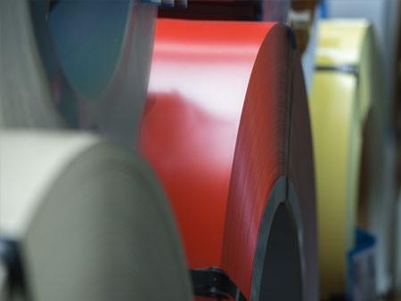 Organisch beschichtetes Feinblech Coils Coil Spaltband Vormaterial Lager Vormateriallager