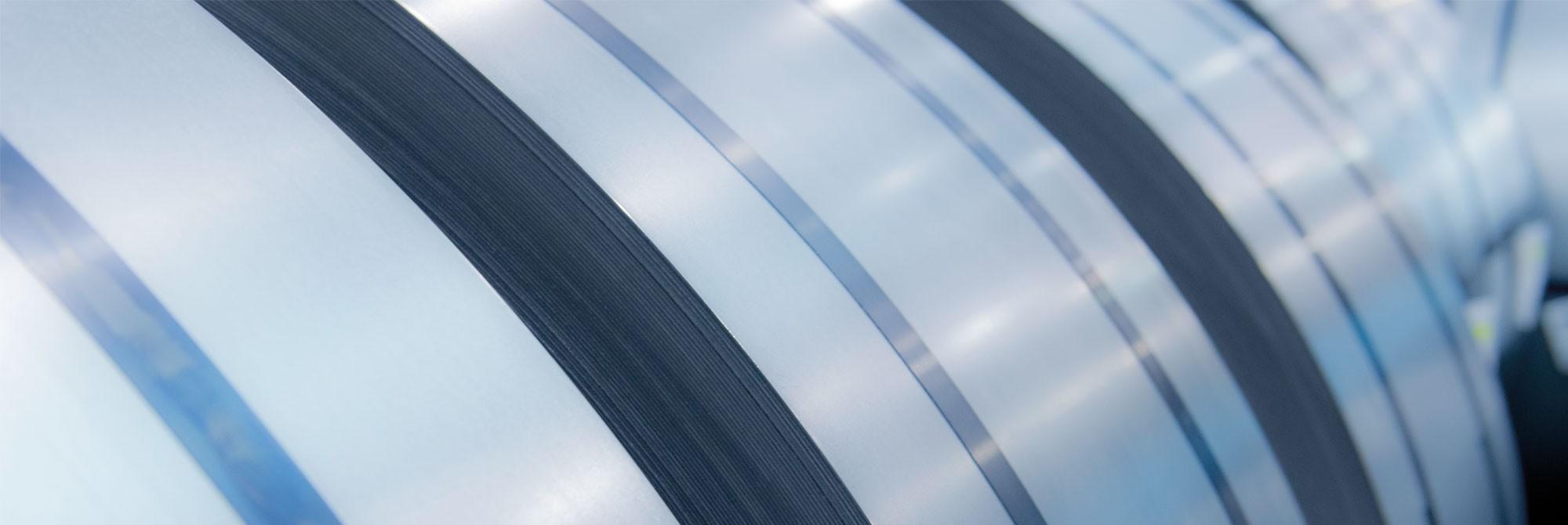 Rerolled precision steel strip
