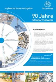 90 Jahre thyssenkrupp Materials Schweiz AG