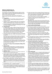 Allgemeine Lieferbedingungen (Deutsch)