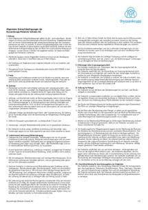 Allgemeine Einkaufsbedingungen (Deutsch)