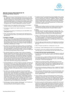 Allgemeine Aerospace Einkaufsbedingungen (Deutsch)