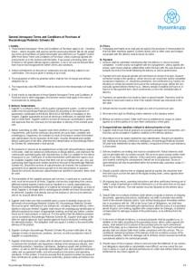 Allgemeine Aerospace Einkaufsbedingungen (Englisch)
