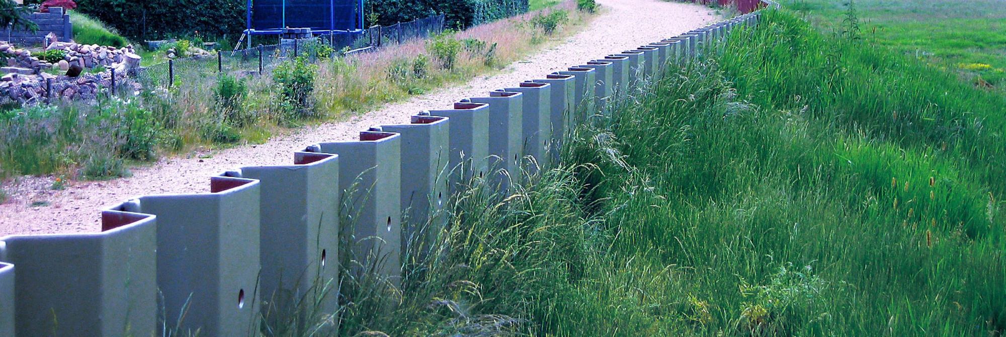 Permanent flood protection system