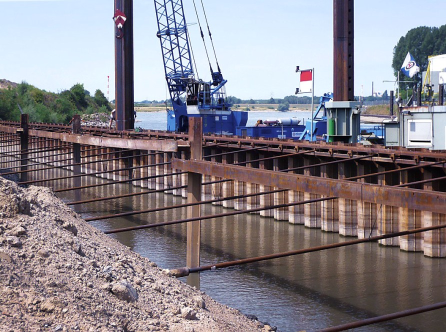 The solution for sheet pile walls.