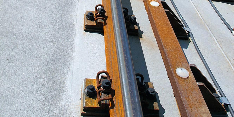 Schienenlagerung ECF Feste Fahrbahnen