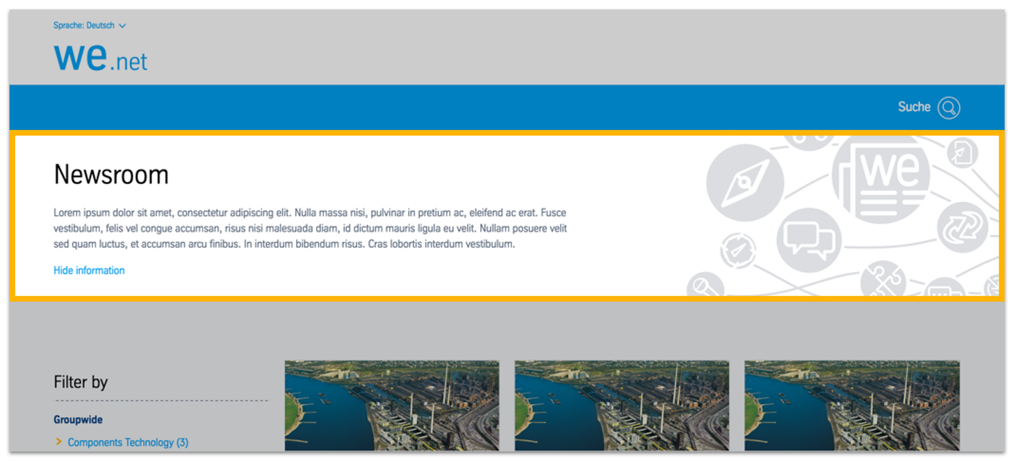 Info Stage in intranet setting