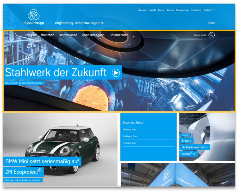 Homepage Big Stage - Modulansicht