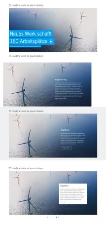 Multi Content Teaser: Dimensioning Desktop